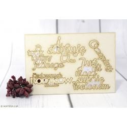 Zestaw napisów ślubnych