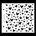 Stencil - hearts