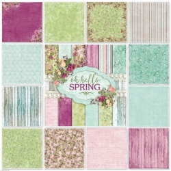Oh Hello Spring! - set of 6 scrabooking papers