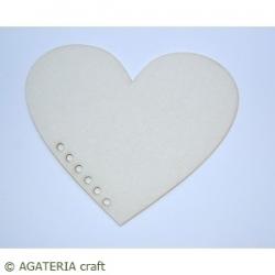 Baza albumowa serce 2, dziurki - 1 ark