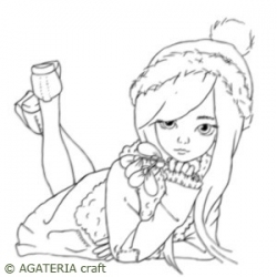 Agatkka z jemiołą