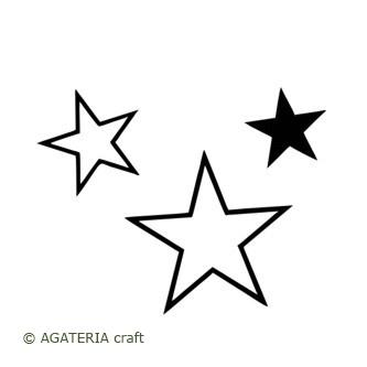 Gwiazdki 3 szt - zestaw
