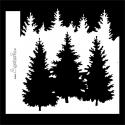 Stencil - Pine trees