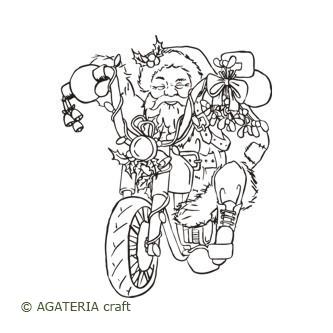 Mikołaj na motorze