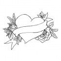 Serce tatuaż