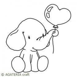 Słoń z balonem