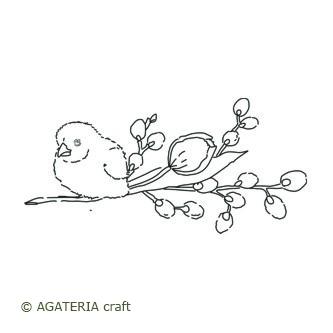 Ptaszek na gałązce