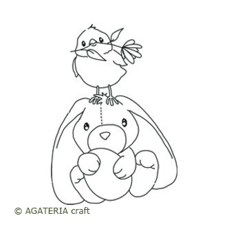 Królik z ptaszkiem