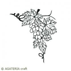Winorośl z winogronami narożnik