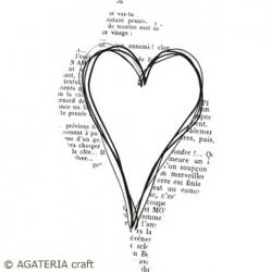 Serce na tle