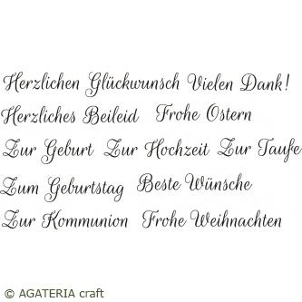 Napisy na każdą okazję - zestaw po niemiecku