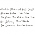 Set of sentiment stamps in German for any occasion