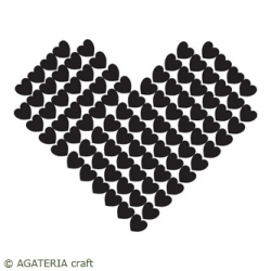 Heart made of hearts Stamp
