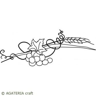Kłos z winogronami