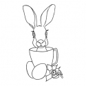 Rabbit in a cup Stamp