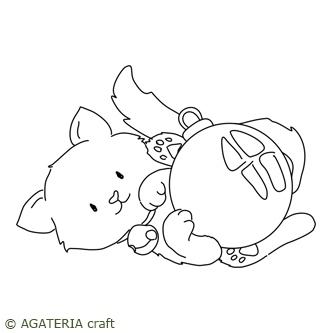 Kotek z bombką