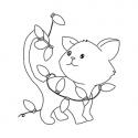 Kotek z lampkami