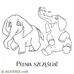 Słonie 2 + napis