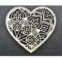 Serce - mandala 1 z falbanką