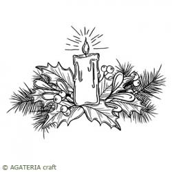 Stroik 3 - gałązka ze świeczką