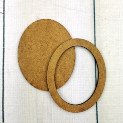 Ramka oval mała