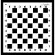 Maska szachownica 30 x 30cm