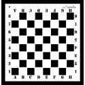 Maska szachownica 30 x 31cm