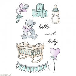 ZESTAW STEMPLI - SWEET BABY - ARRIVAL