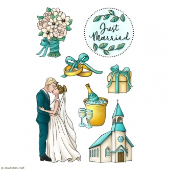 ZESTAW STEMPLI - ROMANTIC WEDDING - CEREMONY
