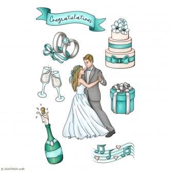 ZESTAW STEMPLI - ROMANTIC WEDDING - CELEBRATION