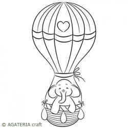 Słonik w balonie
