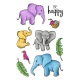 ZESTAW STEMPLI - PERFECT HOLIDAY - ELEPHANT - HS 0701