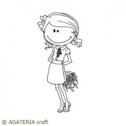 Matylda z bukietem kwiatów