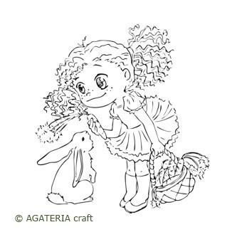 Łucja z króliczkiem