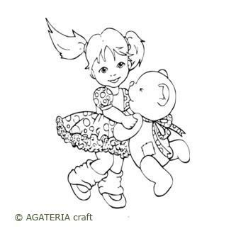Alicja tańcząca z misiem