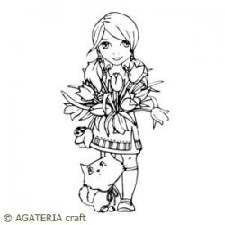 Alicja z bukietem
