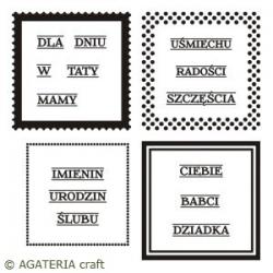 Ramki kwadratowe - zestaw + napisy