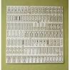 Cyfry i alfabety -duże litery