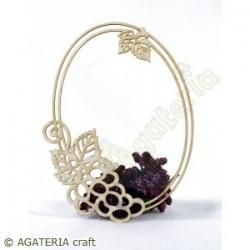 Ramka z winogronami owal