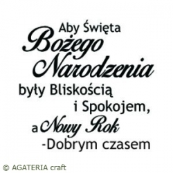 Aby Święta Bożego Narodzenia... - Wish that your Christmas... - sentence in Polish