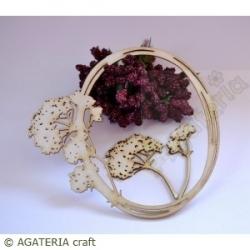 Ramka kwiatki owal 2