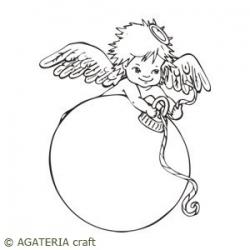 Aniołek z bombką