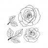 Róze + listki 2