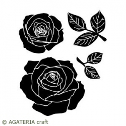 Róże + listki 1